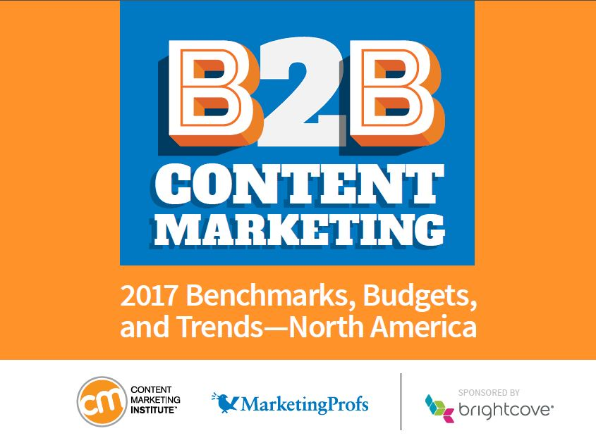 B2B 2017| Content Marketing Institute-MarketingProfs, Content marketers are on track with 62% reporting that their organizations are more successful with their overall content marketing approach compare with one year ago.