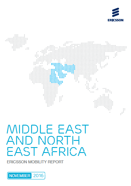 Middle East and North East Africa ERICSSON Mobility Report Q4 2016, The total mobile subscribers in the Middle East and North East Africa reached 690M Subscribers in 2016, and it is expected to reach 850M subscribers in 2020
