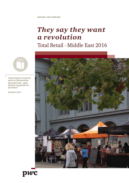 total-retail-in-middle-east-q4-2016_pwc, Online retail in the Middle East is growing as the percentage of daily online shoppers doubled from 6% in 2014 to 12% in 2015, but only a few people have credit cards so people in the Middle East with rate 80% prefer to use cash when they buy online.