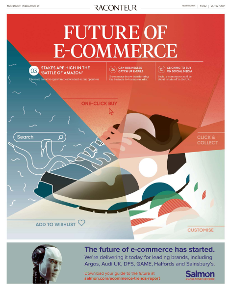 Future of E-Commerce, Q1 2017 | Raconteur In the past, retailers asked 'Will my customers visit us online?' Today, the question is 'How can I get customers to shop more online with me and not with my competition?' the facts ensures that the social media is transforming shopping ways to harness the power of automation.