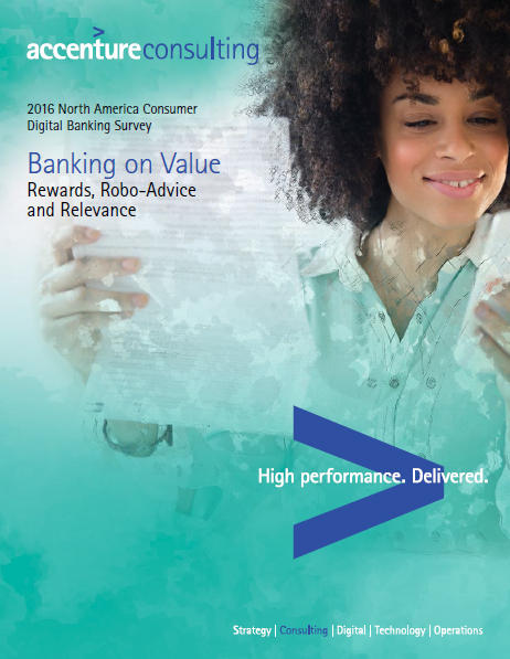 2016 North America Consumer Digital Banking Survey Accenture, Combining the latest in digital banking with human interactions via over than 4,000 consumers surveyed in the United States & Canada as a represented sample for North America, through tracking consumer banking deals, discounts, convenience, relevance attitudes, and behaviors, you can find that online banking remains the dominant channel.