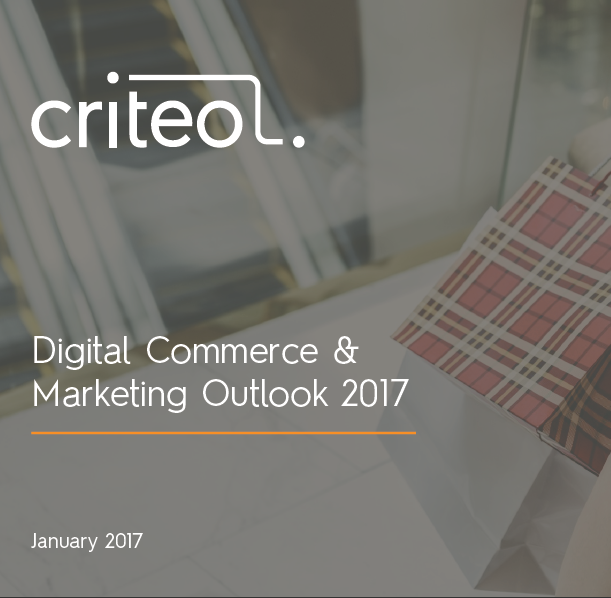 Digital Commerce & Marketing Outlook, January 2017 Criteo, In the US, mobile sales on Black Friday 2016 increased by 50% vs. 2015. In China, Singles Day 2016 showed double-digit YOY growth. And in France, more...