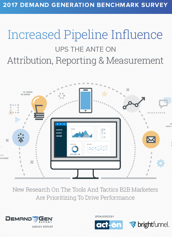 For an in-depth on the trends, channels, B2B Marketers tactics, and tools are prioritizing to drive pipeline performance in 2017 and beyond, read the below insights