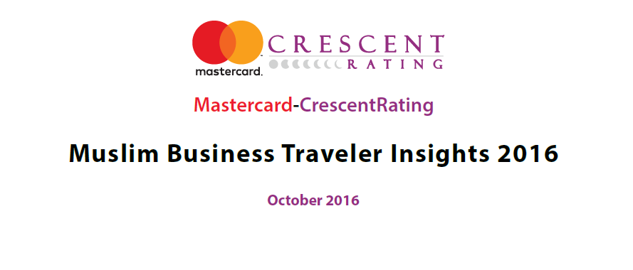 Muslim Business Traveler Insights 2016 MasterCard & CrescentRating: The Muslim population is growing rapidly & is expected to reach 26% of the world's population by 2030. So Muslims represent a huge market should be targeted