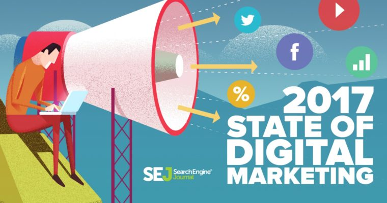 Search Engine Journal's released its second annual survey on the global state of digital marketing to help marketers know how to work, what to spend and how to measure success via analyzing answers from more than 230 digital marketers. The report gives a closer look at how the digital marketing industry is changing and an overview of the most important global digital statistics.. SEJ-2017-State-of-Digital-Marketing-