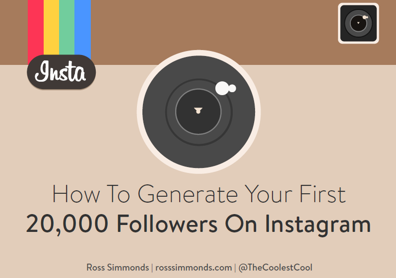 How to Generate Your First 20,000 Followers on Instagram | Ross Simmonds 1 | Digital Marketing Community