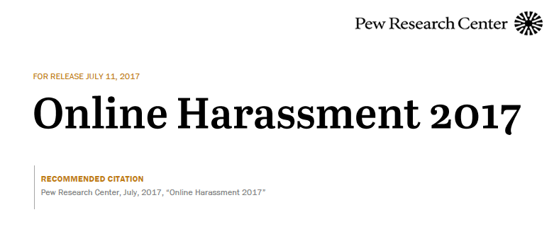 Online Harassment 2017 | Pew Research Center 1 | Digital Marketing Community