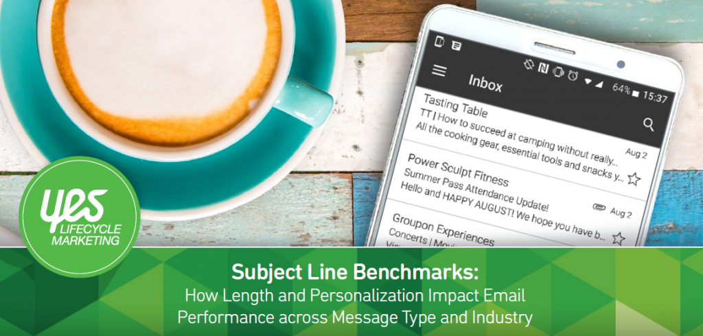 Subject Line Benchmarks, Q2 2017 | Yes Marketing 1 | Digital Marketing Community