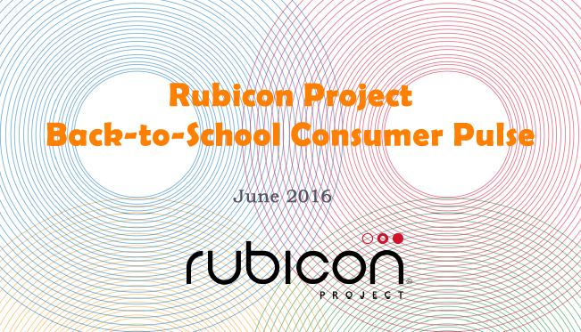 Back-to-School Consumer Pulse, June 2016 Rubicon Project