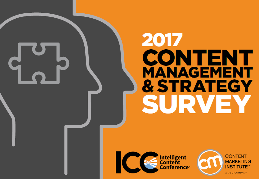 Content Management and Strategy Survey 2017