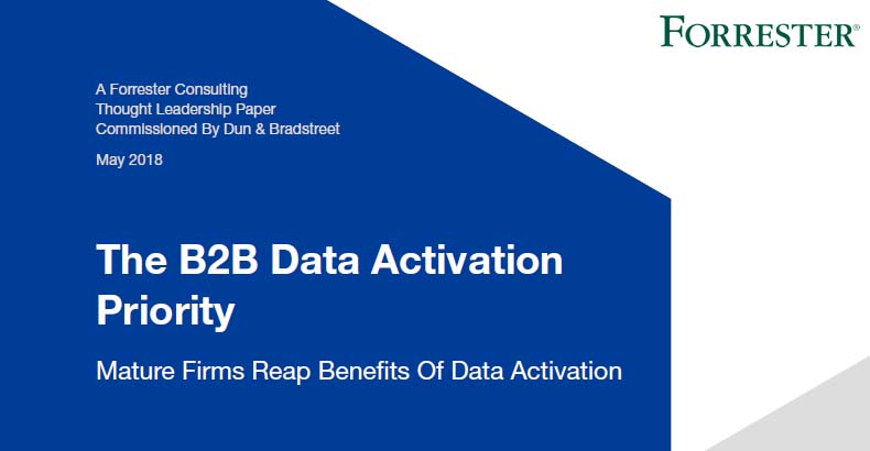 B2B Data Activation Priority in US, Canada, UK & Ireland, 2018 | Forrester