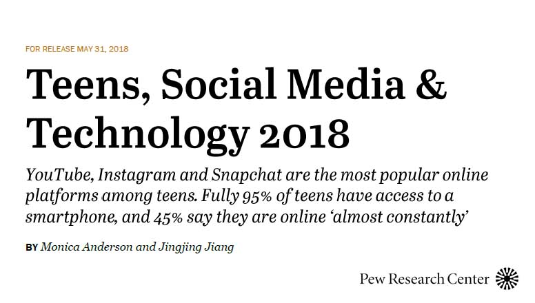 Teens, Social Media & Technology 2018 | Pew Research Center 2 | Digital Marketing Community