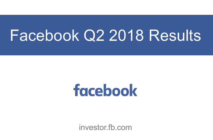 Facebook Q2 2018 Earnings | Facebook 4 | Digital Marketing Community