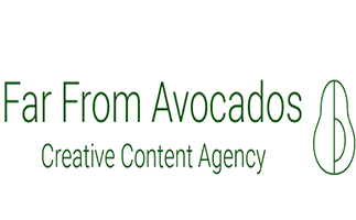 Far From Avocados is a content marketing agency with a journalistic twist. They provide creative content and inbound services – including blogging, editing, ghostwriting, social media, video, podcasting and anything else that audiences can consume. They work across the content spectrum, from content strategy and planning to production, distribution via paid social and SEO, to optimization and reporting that proves the ROI of what they do. So whether you're looking for inbound lead-generation or brand building through high-quality multimedia content, they can help you deliver. They're based on Harrington Street in the heart of Dublin City Centre, so feel free to knock in and say hello any time.
