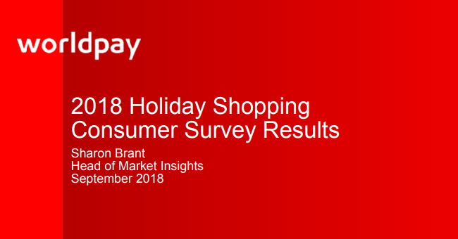 2018 Holiday Shopping Consumer Survey Results
