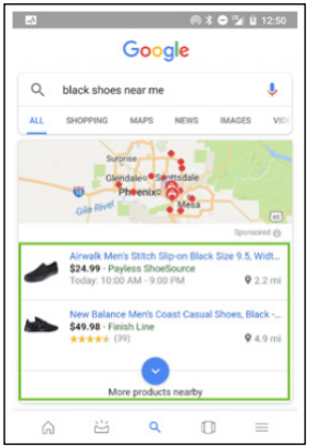 An Example for Google Local Inventory Ads - PPC 101 A Complete Guide to Pay-Per-Click Marketing Basics - SEJ E-Book