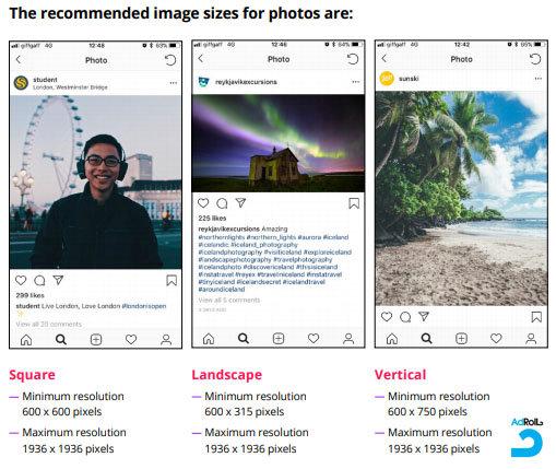 The Recommended Image Sizes for Instagram Ads