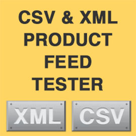 CSV and XML product feed tester