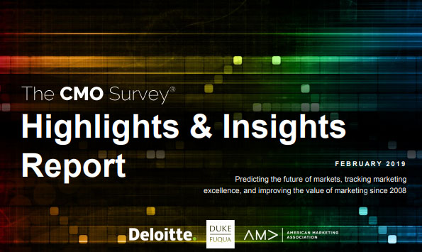 The CMO Survey - Marketing Analytics Highlights & Insights - Deloitte Report, Feb. 2019