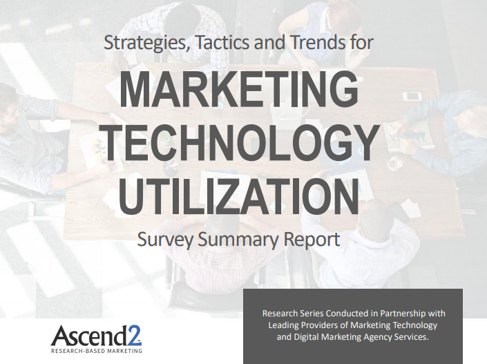 Marketing Technology Utilization Report Ascend2 2019