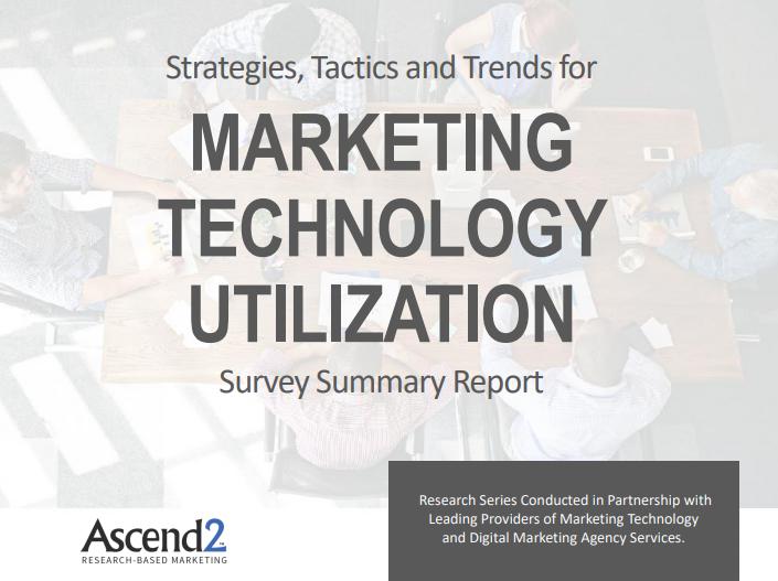 Marketing Technology Utilization Report Ascend2 2019