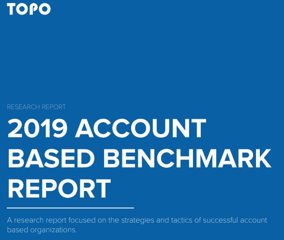 Account-Based Bench Mark Report Cover 2019