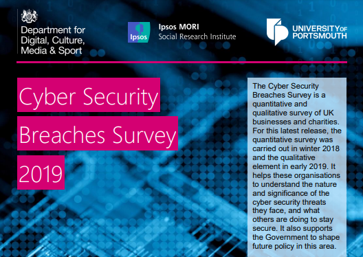 Cybersecurity breaches survey cover 2019