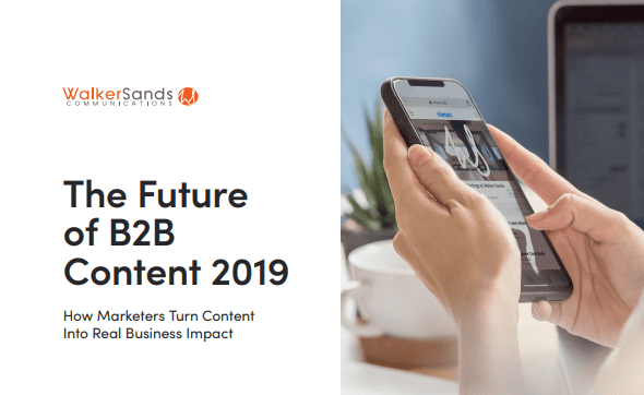 The Future of B2B Content Report, 2019: Content marketing continues to be one of the hottest marketing topics. B2B marketers are increasingly using content marketing tactics to better engage B2B buyers and educate, inform, entertain and guide them along their customer journey.
