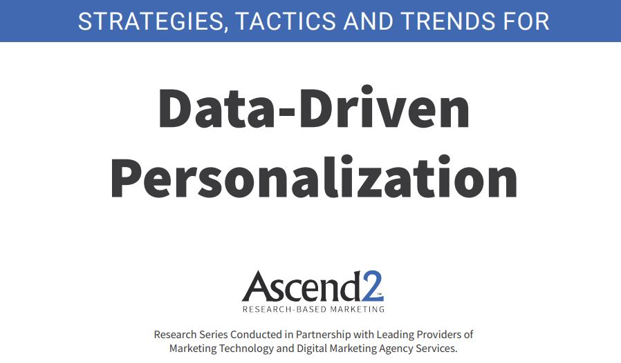 Data Driven Personalization report cover 2019