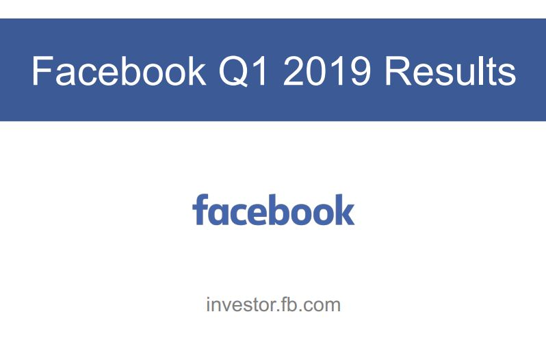 Facebook Q1 2019 Results Cover
