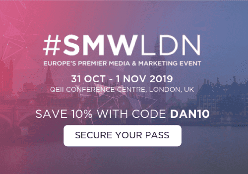 The UK's Social Media Week #SMWLDN is one of the world's top conferences and industry news platforms for marketers in 2019. Join now via the DMC Hub
