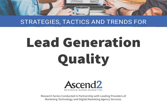 Lead Generation Quality Report 2019 Cover