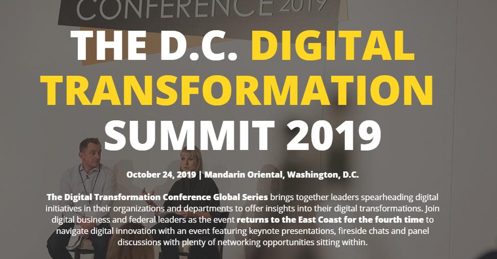 The Digital Transformation Conference Washington DC 2019