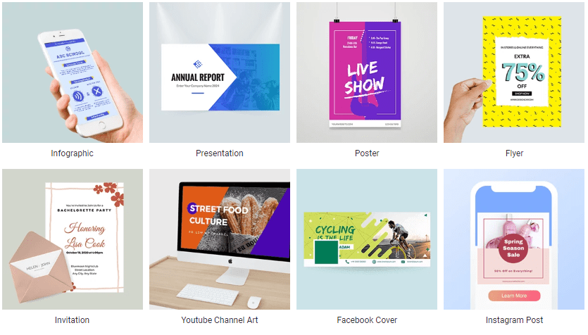 DesignCap; graphic design software - graphic design apps: the main Categories