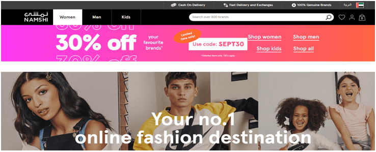 Launch eCommerce business, 5 eCommerce success stories from the best eCommerce platforms in KSA & UAE, How 'Namshi', the best Online Fashion Website in the Middle East, Spiked Web Traffic Using Google Cloud Solutions