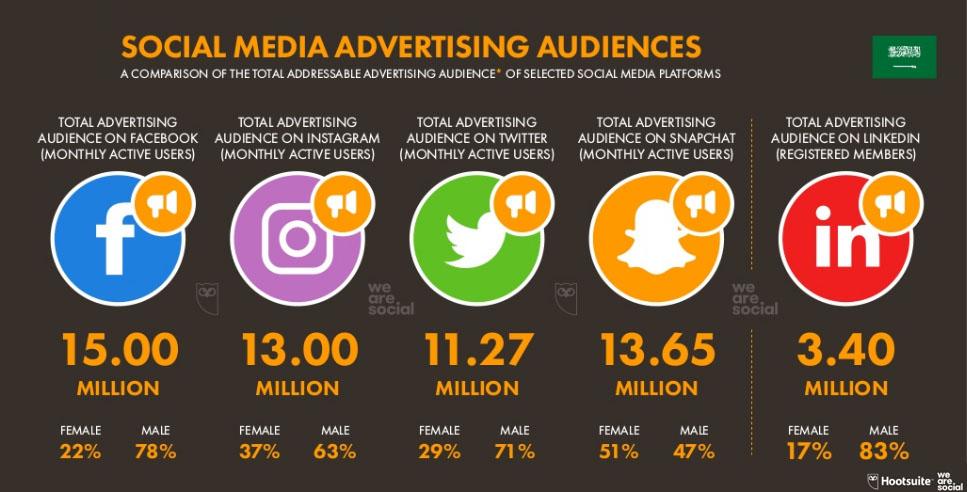 Social Media Advertising Audience in Saudi Arabia