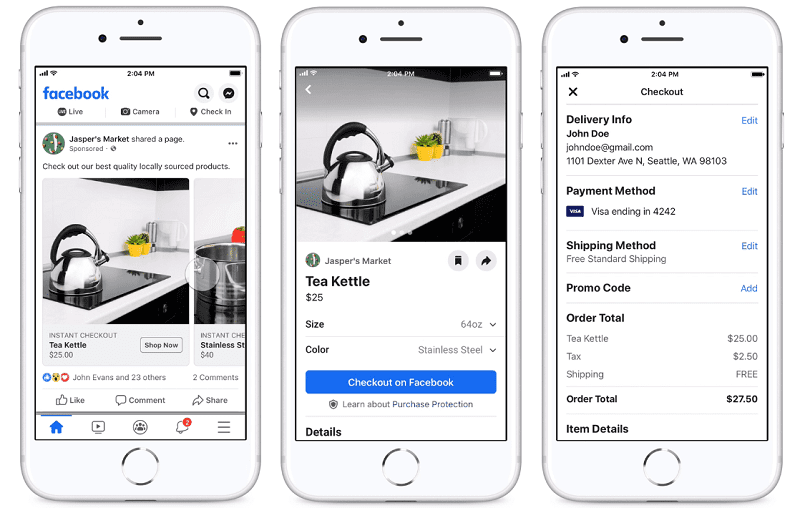 Facebook announced that it's testing two shopping ads format features to support direct sales for marketers on Facebook and Instagram platforms.