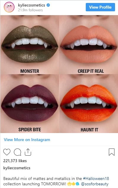 Halloween Special Edition Cosmetics, Social media Halloween Marketing Campaign Ideas 2019, Halloween marketing ideas, Halloween campaigns, Halloween brands, Halloween advertising ideas, marketing Halloween ideas