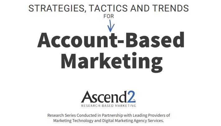 Account based marketing 2019 report cover