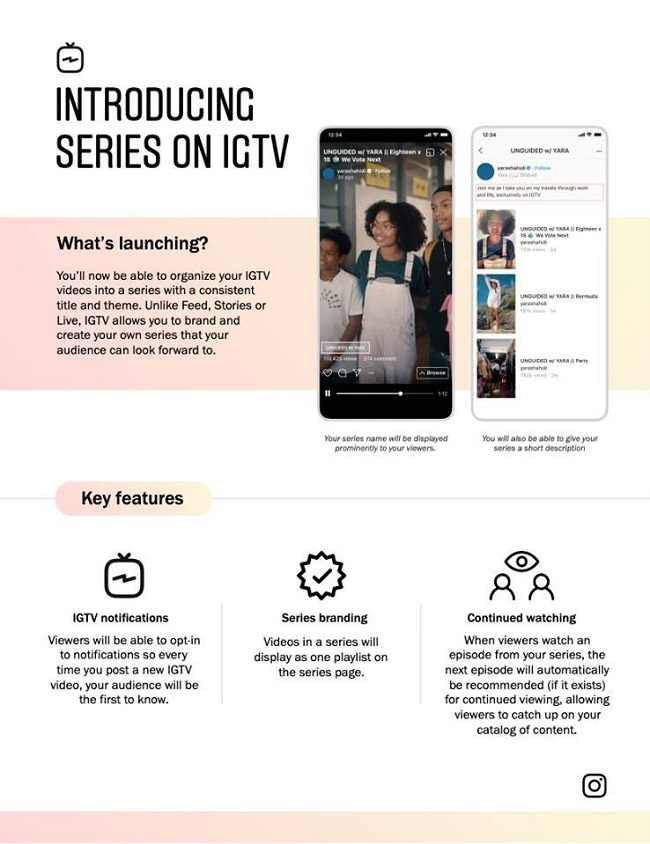 IGTV Series - Instagram New Tool