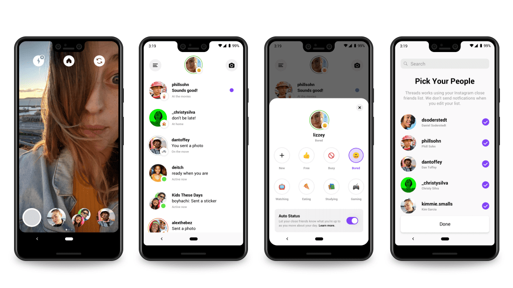 Instagram introduces their new messaging app 'Threads', looking to simplify communication with close friends, and let friends know what they're up to.