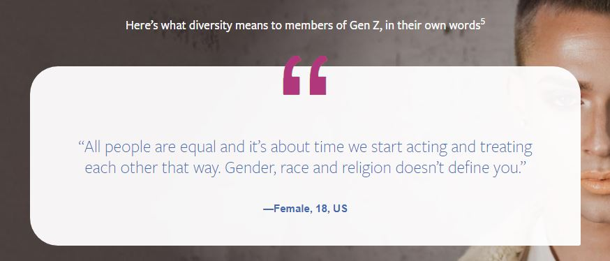 Facebook Report: What diversity means to members of Gen Z, in their own words.