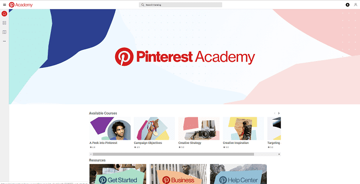 Pinterest Academy, a new e-learning platform was launched on Tuesday by Pinterest to help new businesses on the platform get started.