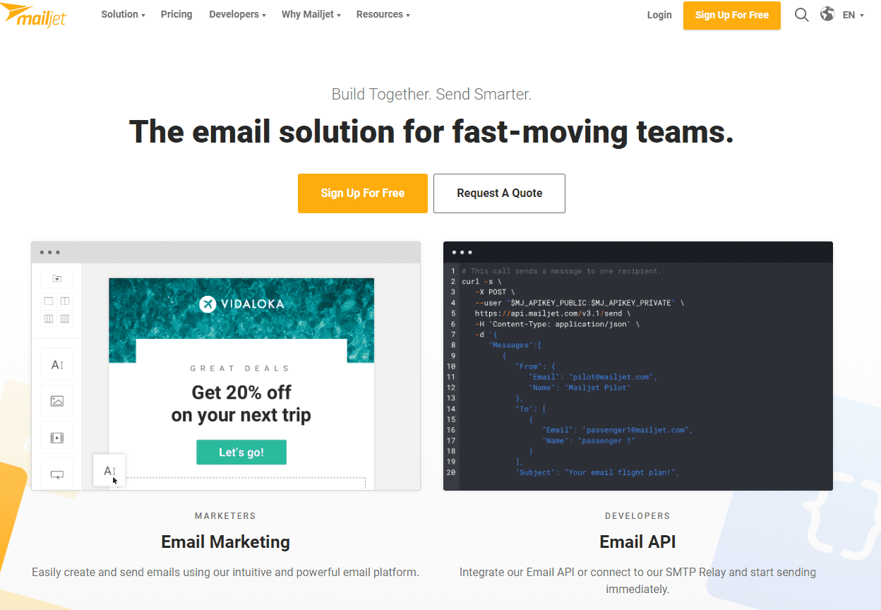 Mailjet, one of the best email marketing tools, email marketing software, Mailchimp Alternatives for 2020