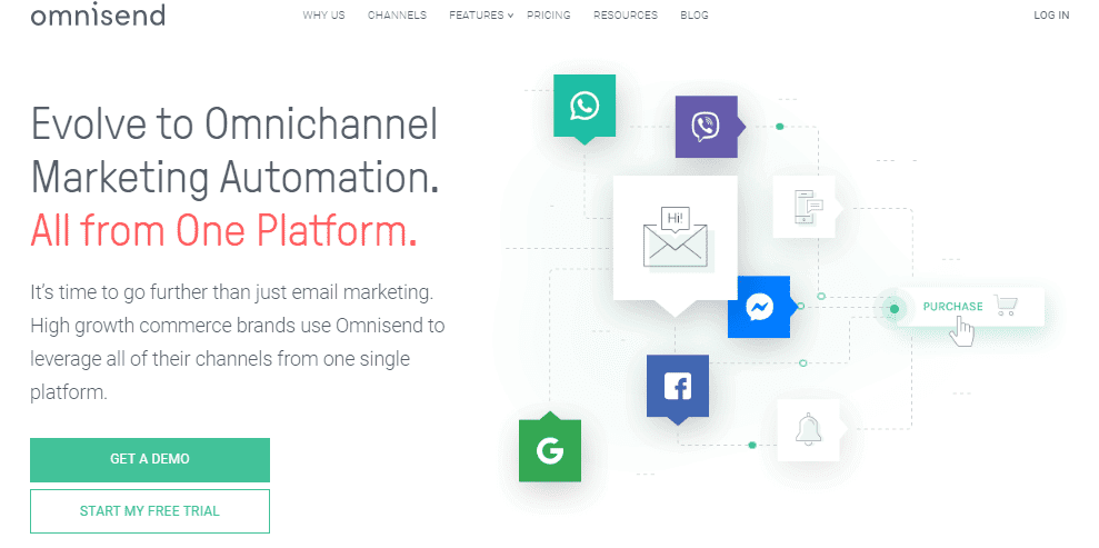 Omnisend, email marketing tool, the Best Mailchimp Alternatives for 2020