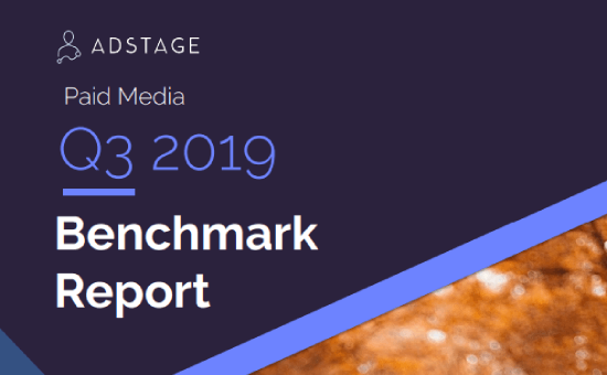 Paid Media Benchmark Report, Q3 2019 | AdStage benchmark report 2019, HubSpot paid media benchmark report, twitter advertising benchmarks 2019, LinkedIn advertising benchmarks 2019, facebook advertising benchmarks 2019, social media benchmarks by industry