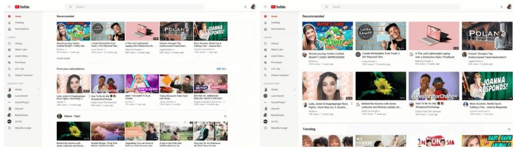"YouTube is rolling out a new homepage format for Tablet and Desktop apps, an ""Add to Queue"" button, and a ""Don't recommend channel"" option."