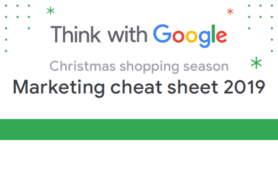 Christmas Shopping Season Marketing Cheat Sheet 2019 | Google