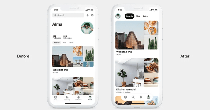 Pinterest has announced the release of its new Pin format, which includes some functional changes, and other minor updates.