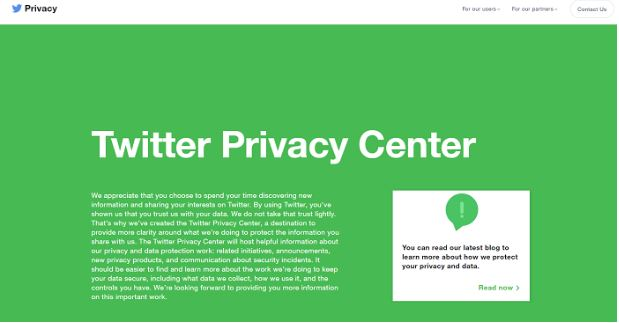 Twitter launches a new Privacy Center to showcase how the social media network is taking active measures to protect the data of its consumers.